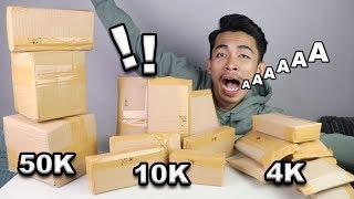 MYSTERY BOX 50K HADIAH 200K - UNBOXING 3 JENIS MYSTERY BOX SEKALIGUS !!!