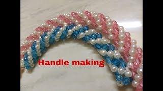 How to make beads bag handle making.....