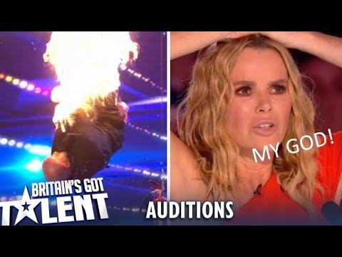 Jonathan Goodwin: Man Sets Himself On FIRE And Leaves Judges SPEECHLESS! Britain's Got Talent 2019 (видео)