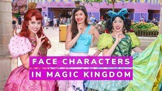 Meeting Face Characters At Disneys Magic Kingdom As An Adult! Anastasia & Drizella, Peter Pan, More