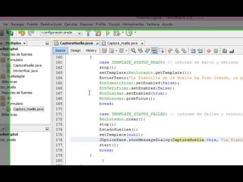 Video Tutorial Lector de Huella en JAVA