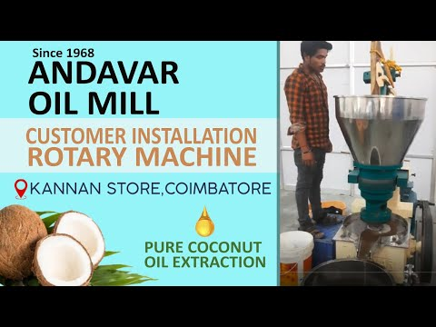 75Kg/ Hour Coconut Oil Extraction Cold Press Rotary Machine