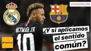 Neymar y el sentido común. ¿Barcelona, Real Madrid, PSG?