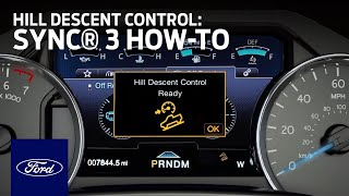 Hill Descent Control™ | Ford How-To | Ford