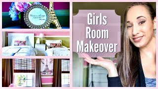 Girls Bedroom Makeover | Tween Toddler Girls Room Tour Ideas