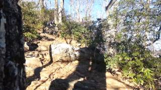 The bigger drop on Bennett Gap Trail