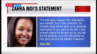 Zahra Moi: Why I declined appointment to Nairobi Hospital