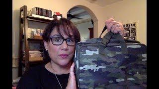 Fold-Up Travel Bag - Camo Crosshatch - Thirty-One