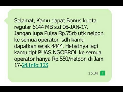 Video Bonus GRATIS kuota 3 ( Three ) hingga 10GB + Pulsa + Nelpon GRATIS 100%