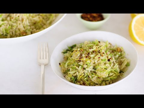 Shaved Brussels Sprouts, Meyer Lemon, and Quinoa Salad- Healthy Appetite with Shira Bocar
