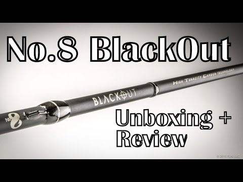 No.8 Tackle Co. BlackOut Casting Rod Unboxing & Review