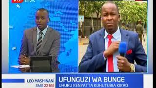 Ajenda ya rais Uhuru katika ufunguzi wa bunge leo hii
