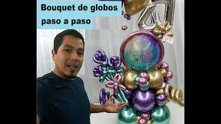 Elaboracion De Bouquet De Globos Paso A Paso Un Nuevo Proyecto Andando