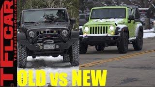 Old vs New: 2017 Jeep Wrangler LED Headlights vs  2016 Halogen Wrangler Lights Review