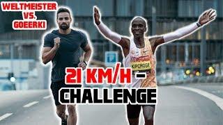 GOEERKI VS KIPCHOGE - 21 KM/H Laufband Challenge (Marathon Pace)