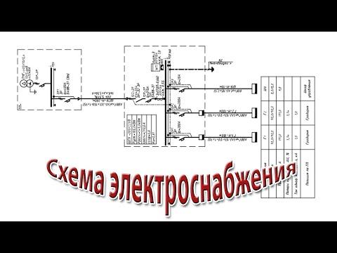 Пример расчета и оформления схемы электроснабжения