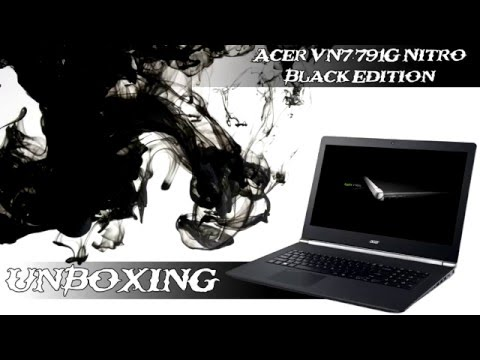 Acer Aspire V Nitro Black Edition VN7-791G unboxing │ kicsomagolás