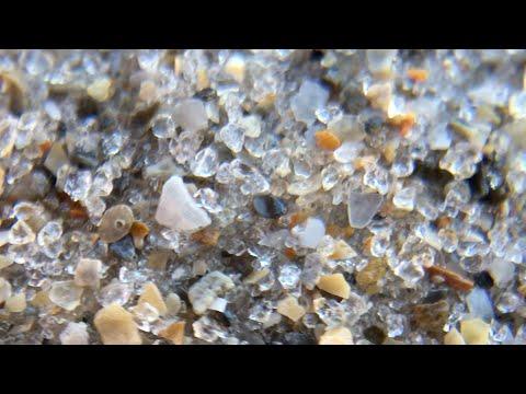 Beach sand super-magnified
