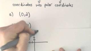 Converting Between Polar and Rectangular (Cartesian) Coordinates, Ex 1