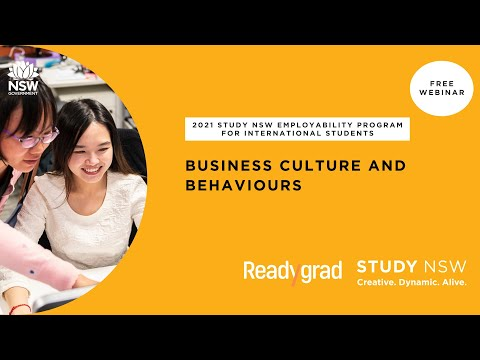 2021 Study NSW Employability Program - Business culture and behaviours