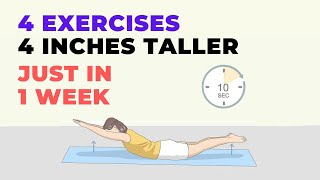 Grow 4 Inches Taller With 4 Stretching Exercises [Just in 1 Week]
