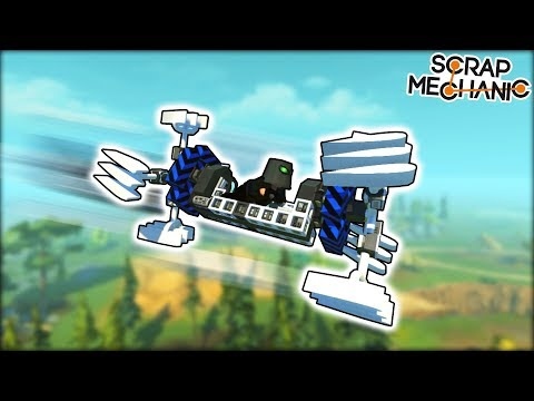 Not The Flyer We Wanted But The Flyer We Deserved. (Scrap Mechanic Gameplay)