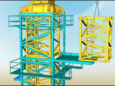 How tower cranes are constructed