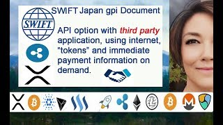 SWIFT gpi Document API 3rd Party Application +Tokens, Internet & Immediate / Ripple Integration?