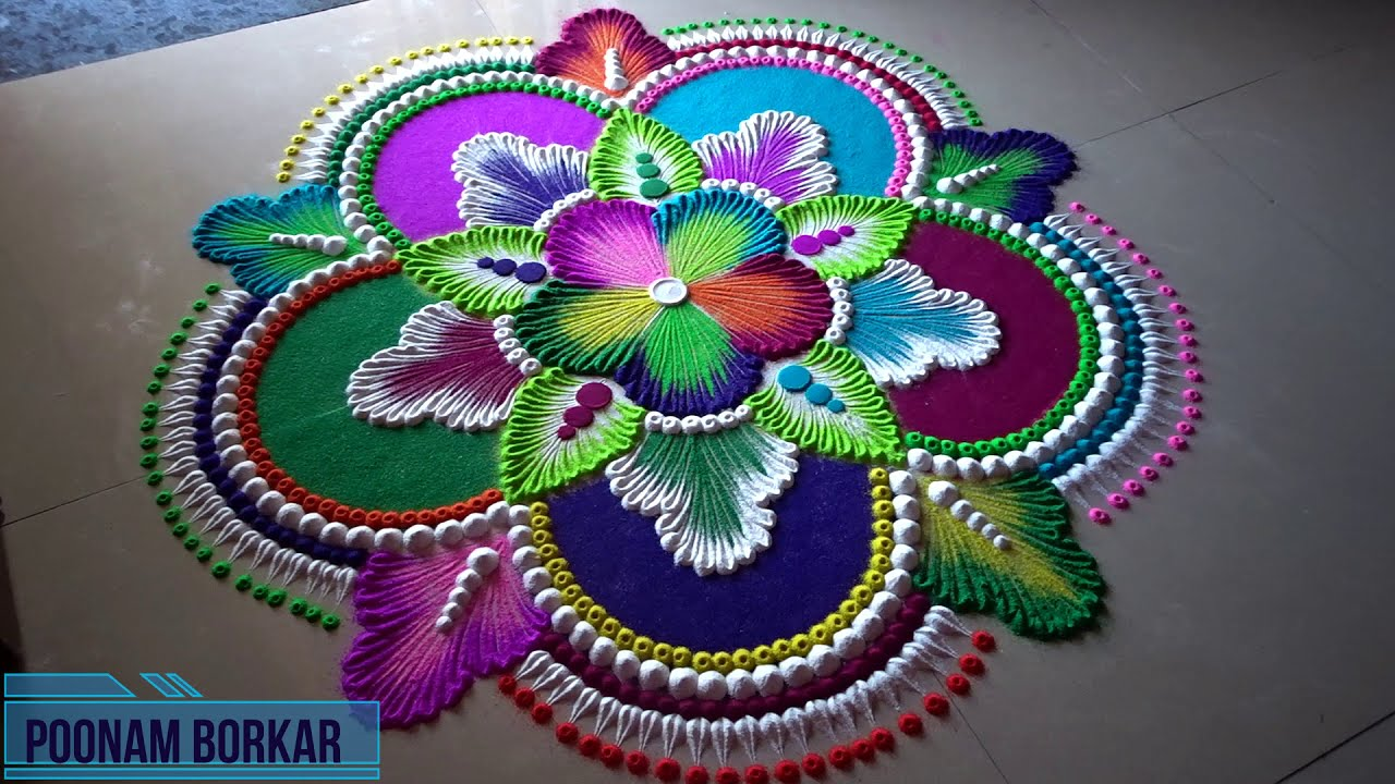diwali rangoli big and colourful by poonam borkar