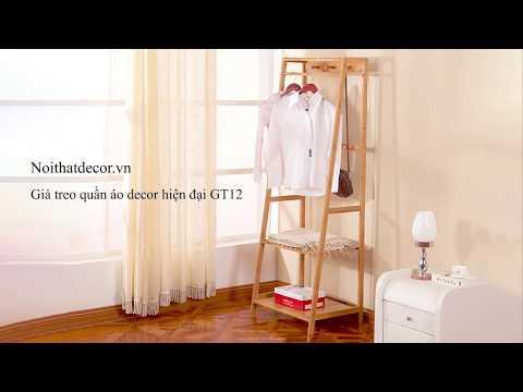 Nội Thất Decor - Giá Treo Quần Áo GT12 Chất Liệu Tre Khối Cao Cấp/Bamboo Clothes Rack.