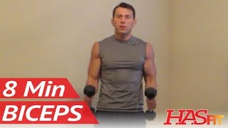 8 Minute Blasting Biceps Workout at Home - Bicep Exercises with Dumbbell - Biceps Work Out Training by HASfit