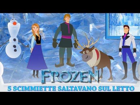 Cinque Scimmiette Saltavano Sul Letto.Frozen In Italiano Cinque Scimmiette Saltavano Sul Letto Canzoni