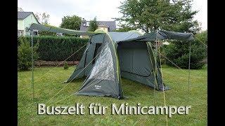 Vorstellung Buszelt / Vorzelt Touring easy für Mincamper Wohnmobil und Campingbusse