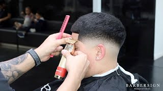 MID FADE HAIRCUT [LOOK & LEARN] BY:TYBARBERSIGN