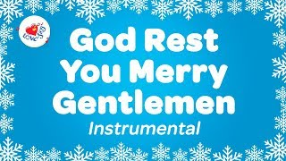 God Rest You Merry Gentlemen Christmas Music Instrumental | Karaoke Carol with Song Lyrics