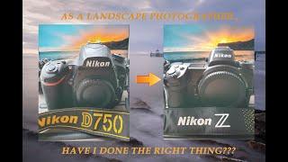 Going from Nikon D750 [DSLR] to Nikon Z7 [Mirrorless]...! (Clevedon pier at sunset)