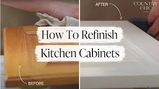 How To Paint Kitchen Cabinets  DIY Tutorial For Refinishing Cabinetry
