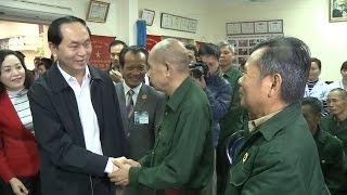Chủ tịch nước Trần Đại Quang thăm Trung tâm điều dưỡng thương binh Nho Quan