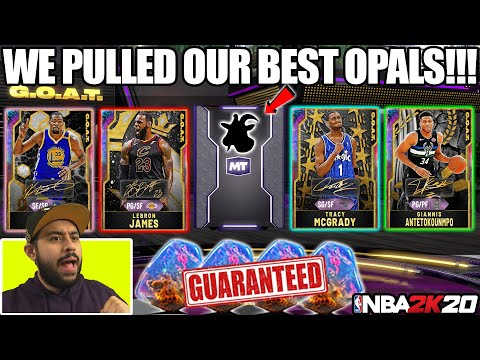 WE PULLED OUR BEST GALAXY OPALS WITH THE NEW GUARANTEED GOAT PACKS IN NBA 2K20 MYTEAM PACK OPENING