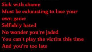 Evanescence - Call Me When You're sober - karaoke / instrumental