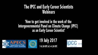 How can you get involved in the IPCC as an Early Career Scientist?