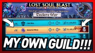 Knights and Dragons - FIRST TIME HOSTING A GUILD WAR IN MY OWN GUILD!! T3 Lost Soul Blast War UPDATE