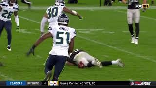 Amari Cooper Knocked Out On Huge Hit   Seahawks vs. Raiders   NFL
