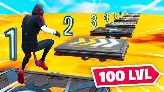 The HARDEST 100 Lvl Deathrun in Fortnite Part 2!
