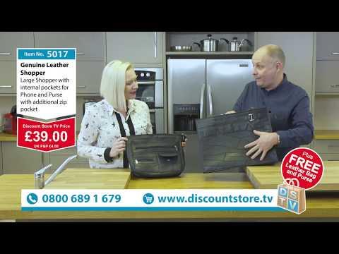 Genuine Leather Shopper, Leather Handbag & Purse | Item No. 5017 | Discount Store TV