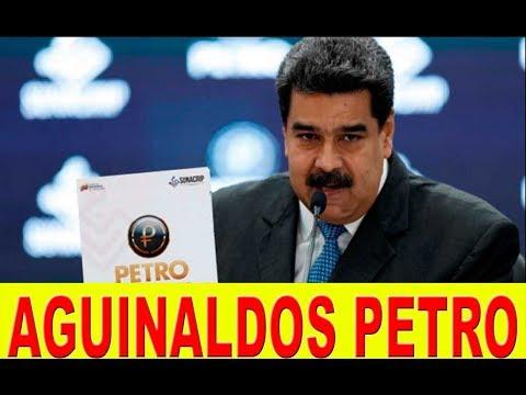 NOTICIAS DE VENEZUELA: Requisitos cobrar MEDIO PETRO AGUINALDO (Bs.900 mil) pensionados y empleados