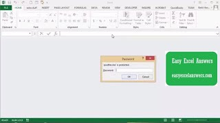 How to access a password protected file with VBA in Excel