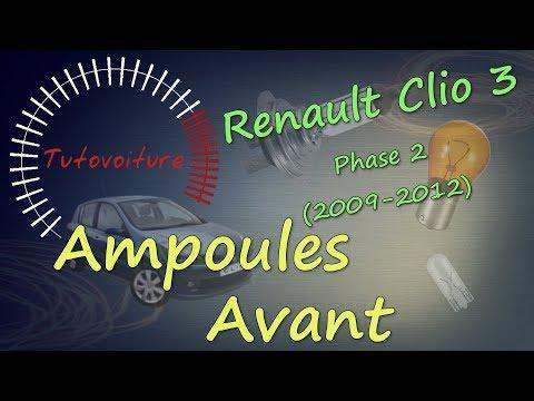 Changer vos ampoules avant - RENAULT Clio 3