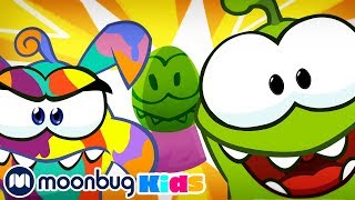 Om Nom Stories - Painting Colorful Easter Eggs! | Cut The Rope | Funny Cartoons for Kids & Babies