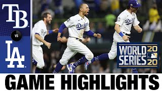 Dodgers win 2020 World Series over Rays! | Rays-Dodgers World Series Game 6 Highlights 10/27/20